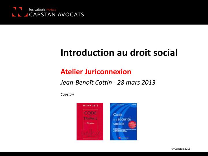 introduction au droit social n.