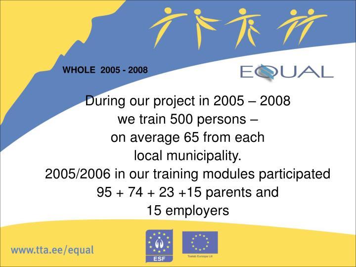 WHOLE  2005 - 2008