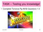 task testing you knowledge1