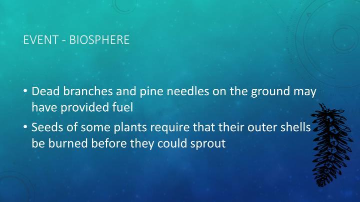Event - Biosphere