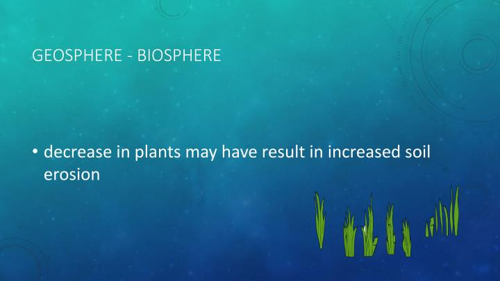 Geosphere - Biosphere