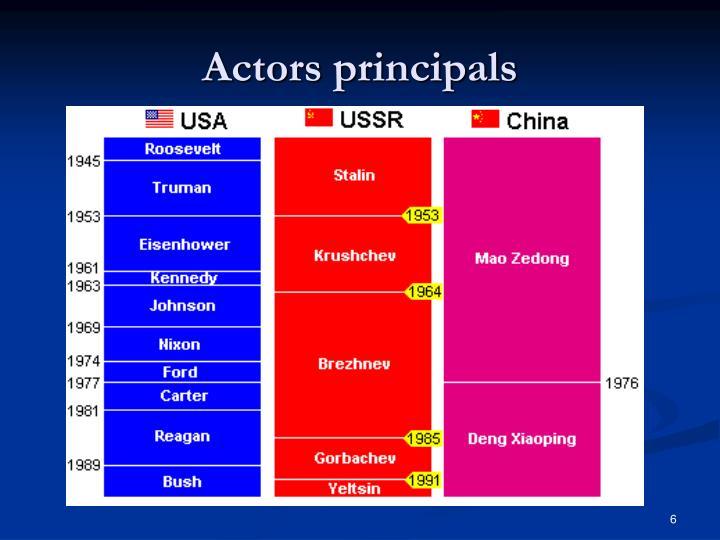 Actors principals
