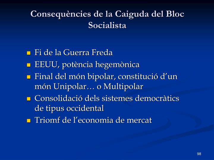 Consequències de la Caiguda del Bloc Socialista