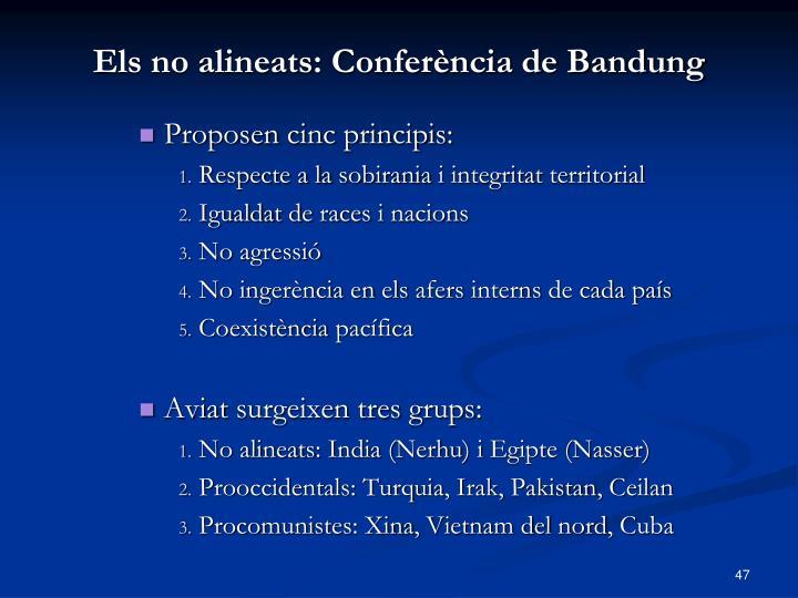 Els no alineats: Conferència de Bandung