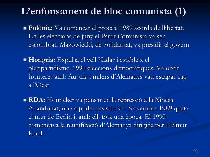 L'enfonsament de bloc comunista (1)