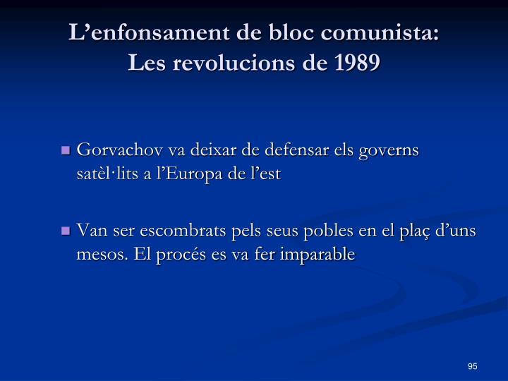 L'enfonsament de bloc comunista: