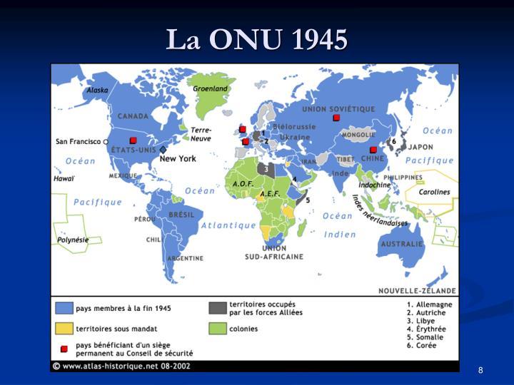 La ONU 1945