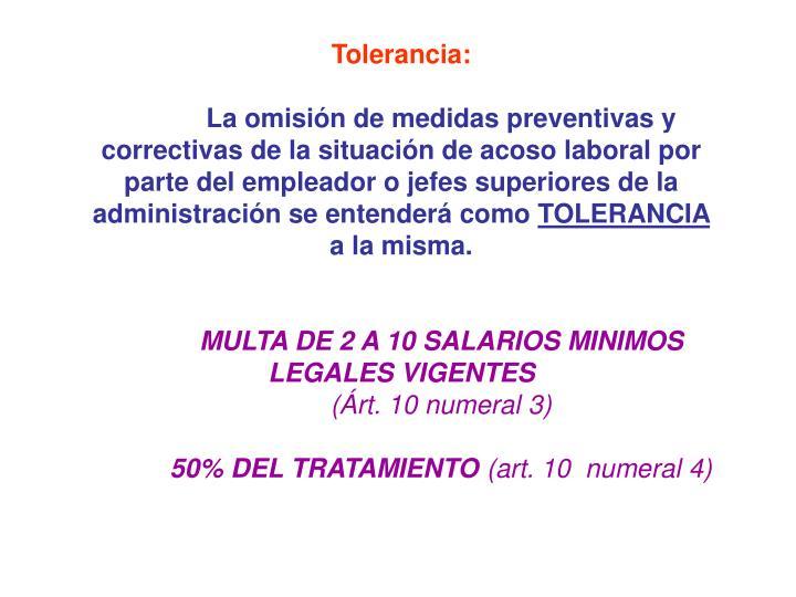 Tolerancia: