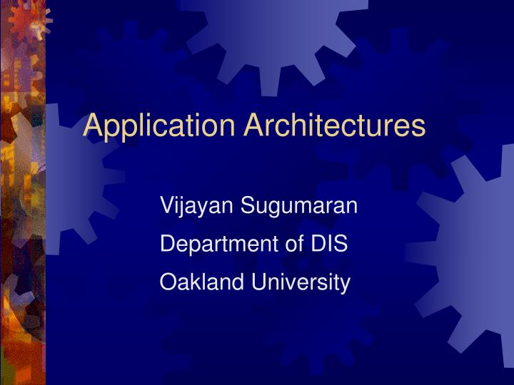 application architectures n.