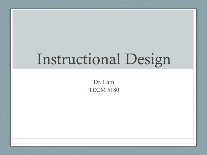 instructional design n.