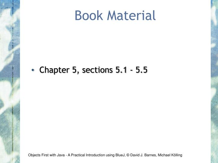 Book material