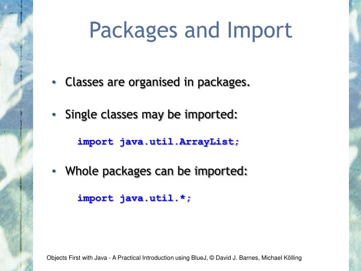 Packages and Import