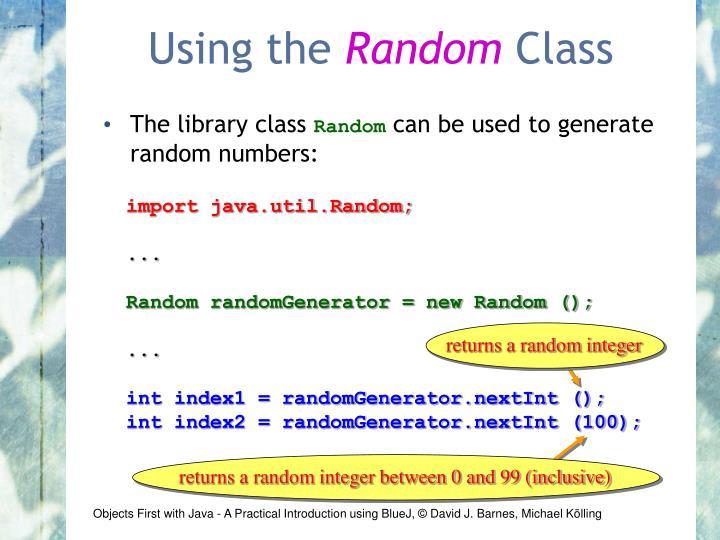 returns a random integer