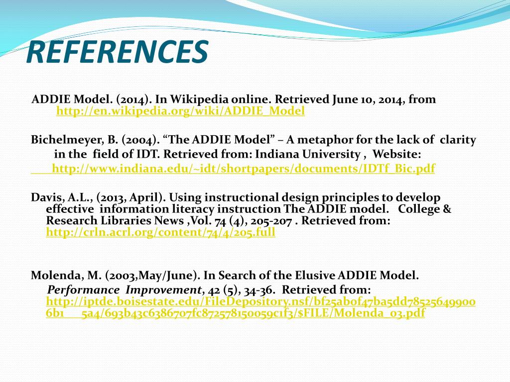 PPT - THE ADDIE MODEL PowerPoint Presentation - ID:6248210