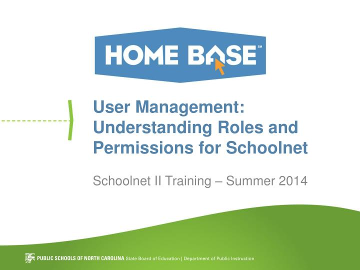 user management understanding roles and permissions for schoolnet n.