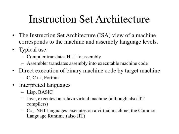 Instruction set architecture1