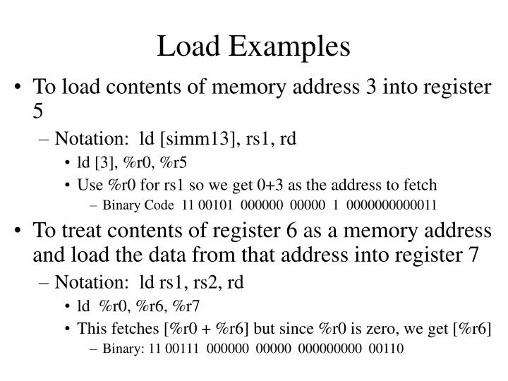 Load Examples