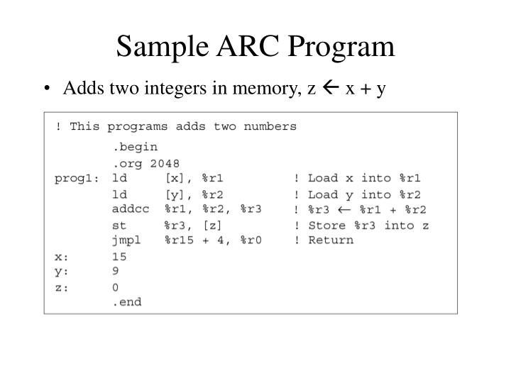 Sample ARC Program
