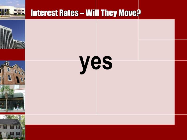 Interest Rates – Will They Move?