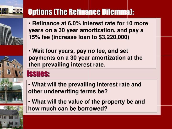 Options (The Refinance Dilemma):
