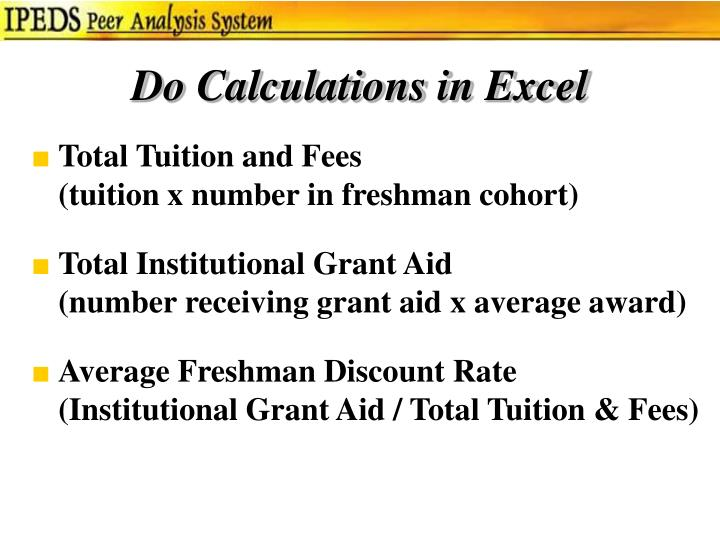 Do Calculations in Excel