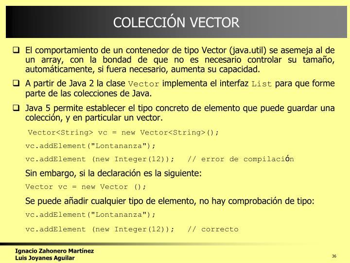 COLECCIÓN VECTOR