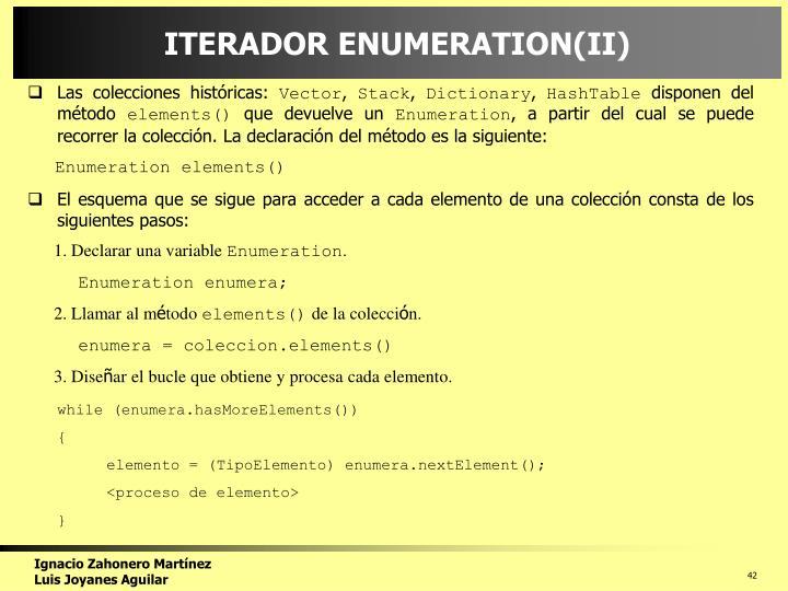 ITERADOR ENUMERATION(II)