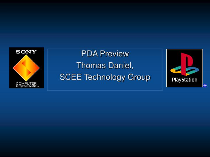 pda preview thomas daniel scee technology group n.