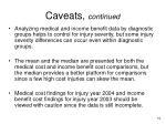 caveats continued