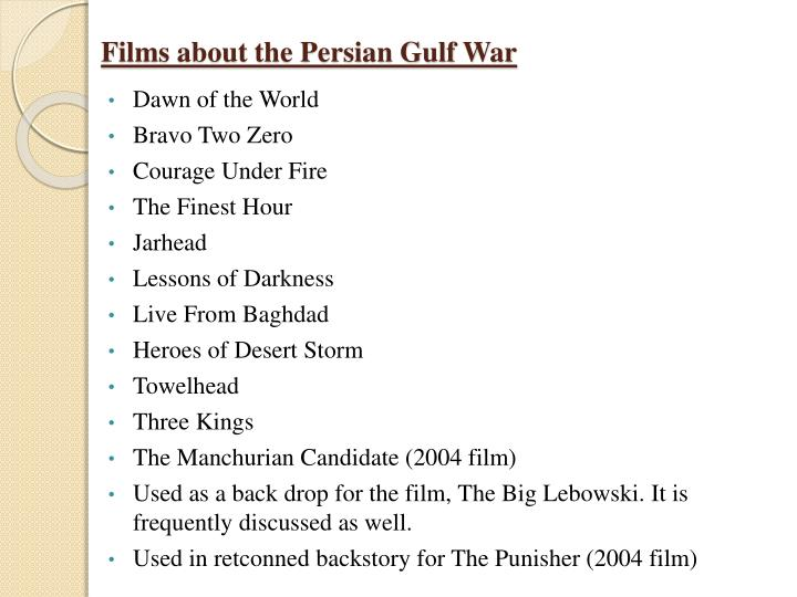 Films about the Persian Gulf War