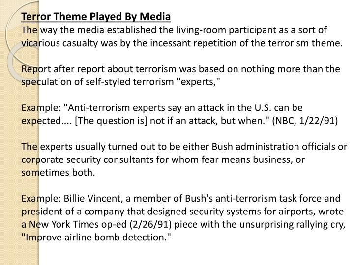 Terror Theme Played By Media