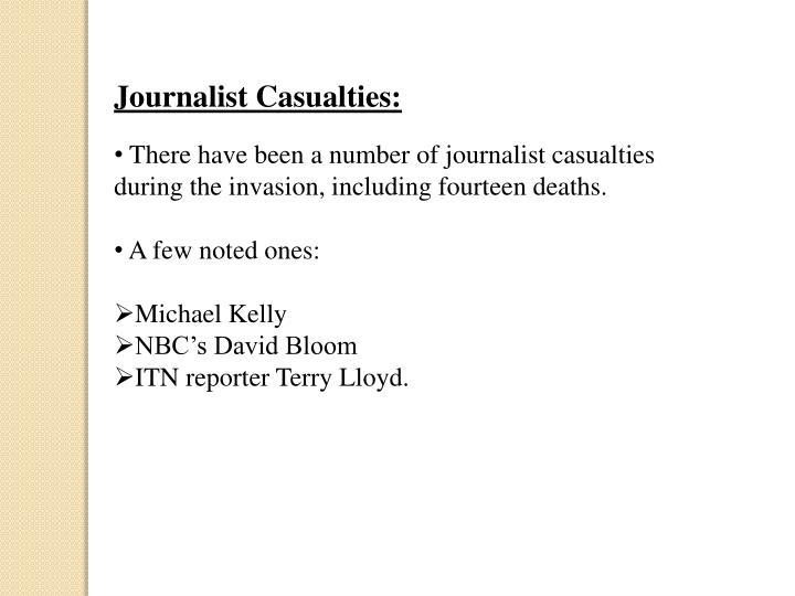 Journalist Casualties: