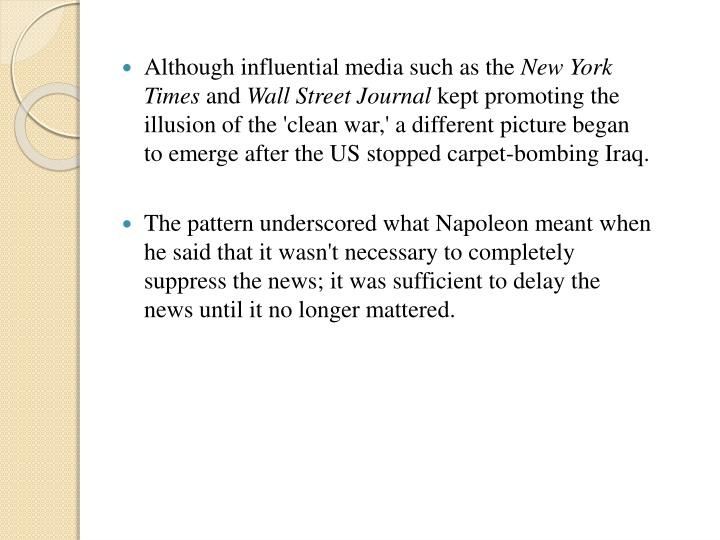 Although influential media such as the
