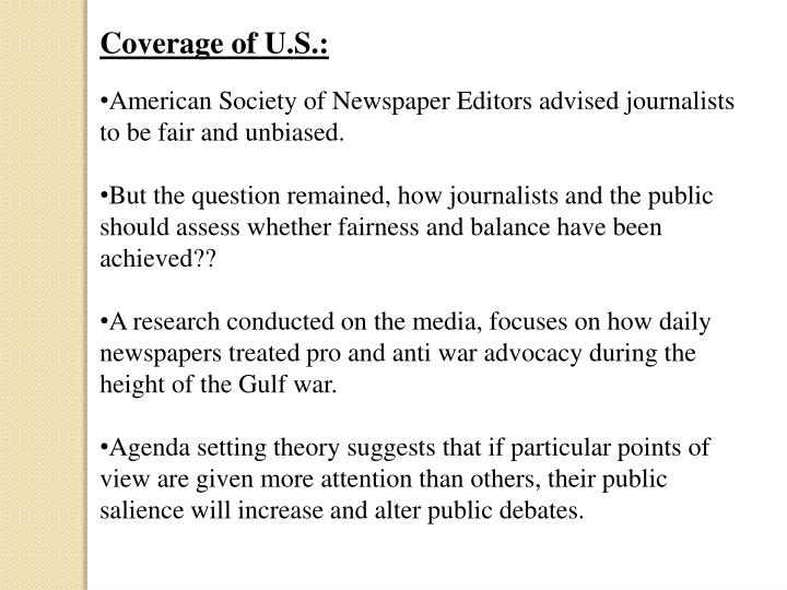 Coverage of U.S.: