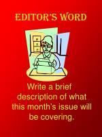 editor s word