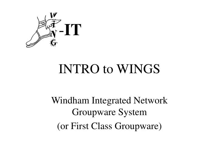 intro to wings n.