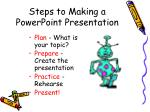 steps to making a powerpoint presentation