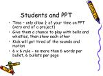 students and ppt