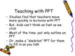 teaching with ppt