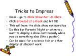 tricks to impress