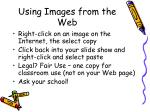 using images from the web