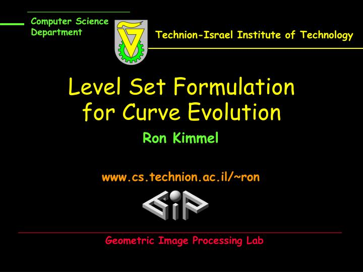 level set formulation for curve evolution n.