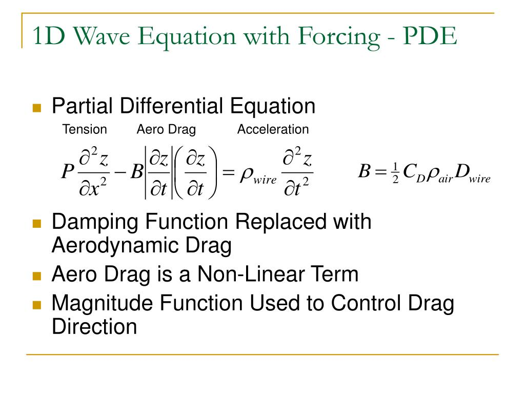 PPT - Variants of the 1D Wave Equation PowerPoint Presentation - ID