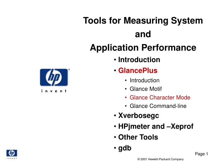 tools for measuring system and application performance n.