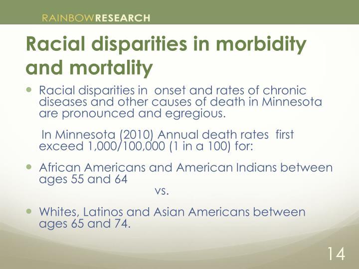 Racial disparities in morbidity and mortality