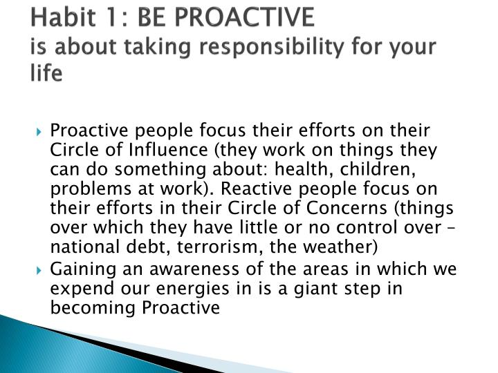 Habit 1 Be Proactive Based On The Work Of Stephen: MR. CONRADO B. ROXAS First Vice President Banking