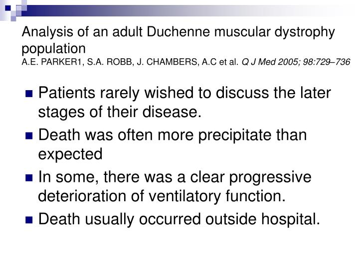 a letter about the duchenne muscular dystrophy
