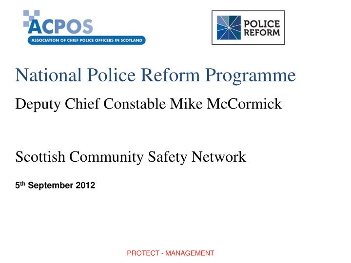 National Police Reform Programme