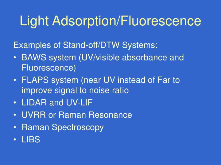 Light Adsorption/Fluorescence