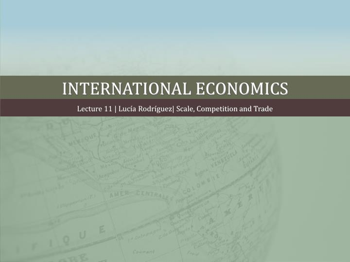 international economics n.